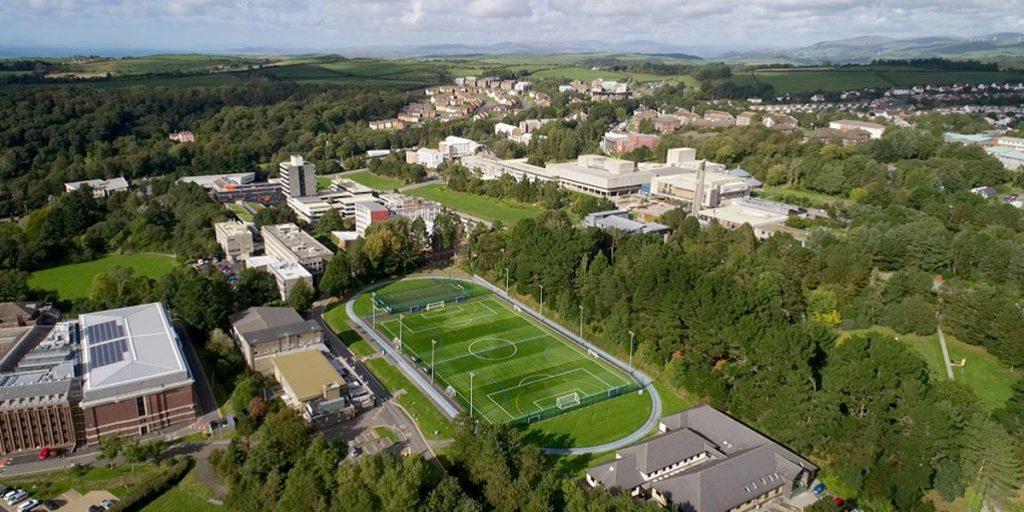 Aberystwyth University aerial photo